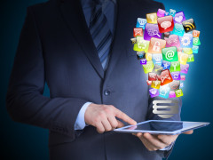 In-app advertising dominates mobile applications